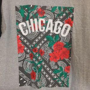 HORIZON NY Shirts - Horizon NY   Men's Chicago & Roses Graphic Tee XL